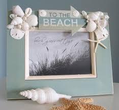sea shell decor beach decor seashell frame nautical decor