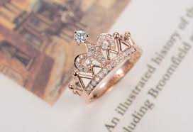 crown style rings images Vintage pure 18k gold crown style indigenous simulate diamond jpg