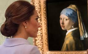 girl with pearl earring painting duchess with a pearl earring kate borrows s jewellery to