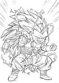 fusion gotenks super saiyan 3 form dragon ball coloring
