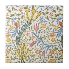 vintage floral wrapping paper vintage floral ceramic tiles zazzle