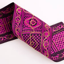 wide ribbon neotrims wide indian salwar embroidery aztec celtic ribbon