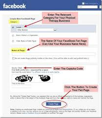 create facebook fan page the benefits of a facebook fan page for your physical therapy