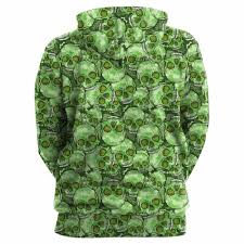 cool green products cool hoodies 3d green skull u2013 heroes products
