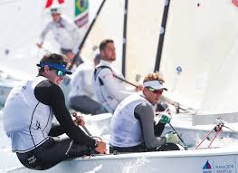 lobert leads success on day one of sailing world cup in hyères