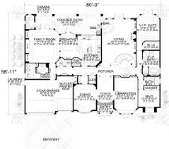 mediterranean style house plan 7 beds 8 50 baths 6412 sq ft plan