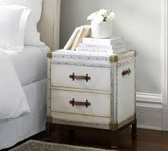 white distressed bedside table