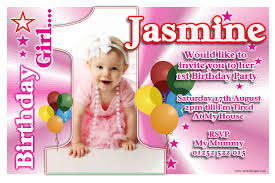 Make An Invitation Card Personalised Girls First 1st Birthday Party Free Invitations Ideas