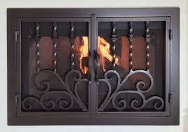 hand forged iron fireplace doors fd044 from mantel depot in san diego