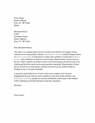 letter of complaint about service office templates