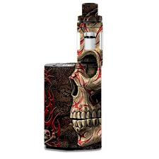 skin decal for smok gx350 kit vape mod evil tribal skull
