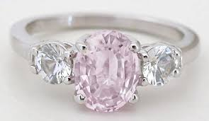 pink gold engagement rings unheated pink sapphire ring oval light pink sapphire and white