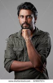 Harsh Light Portrait Rough Looking Indian Young Man Stock Photo 329607074