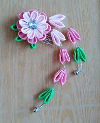 how to make kanzashi hair ornaments free here