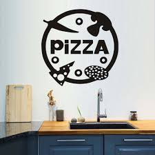 dining room decals pizzeria diy wall decals vinyl stickers home decor kitchen