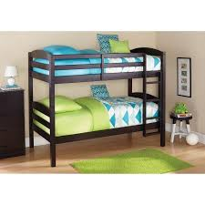 amazon com sturdy mainstays twin over twin wood bunk bed