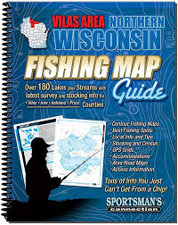 Northern Wisconsin Map by Amazon Com Northern Wisconsin Fishing Map Guide Vilas Area