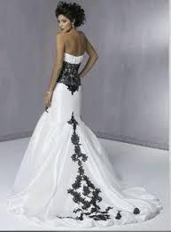 two color wedding dress white wedding dress with black application wedding dresses