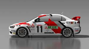 mitsubishi evo rally car misc liveries