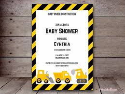 construction baby shower construction baby shower invitation template style by