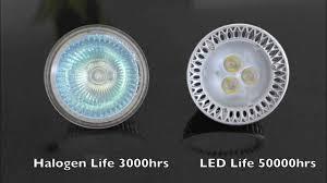 Led Lights Bulbs by Led Mr16 Vs Halogen Mr16 Light Bulbs Youtube