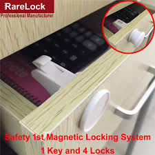 lhx emms313 child baby magnetic lock for cabinet drawer 3m adhesive no drilling infant protection diy furniture hardware