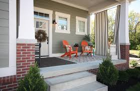 outdoor porch ideas porch craftsman with tapered columns gray