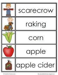 freebie fall word wall words includes fall season and