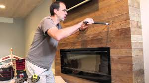 installing a wood fireplace mantel youtube