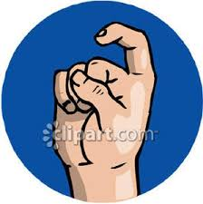 letter x in sign language royalty free clipart picture