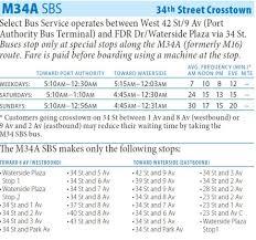 Q44 Bus Map M34a Bua Route East Side Javits Center