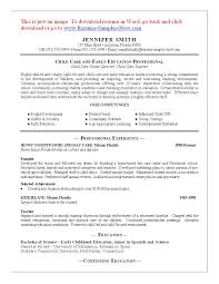 Teenage Resume Template Splendid Ideas Child Care Resume Sample 10 Professional Daycare
