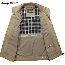 jeep rich jacket jeep rich autumn winter warm cotton outdoor vest casual multi pocket