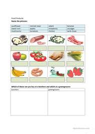 51 free esl foods worksheets