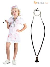 age 4 12 girls zombie nurse costume hat childrens kids halloween