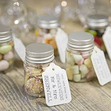 personalised wedding favour sweetie jar mini marshmallows