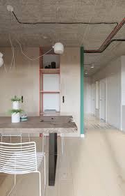 industrial russian interior with quirky colour twists including