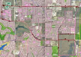 Frisco Texas Map Map Shows Possible Routes For Transmission Line In West Frisco