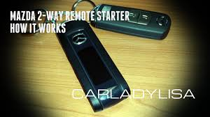 mazda remote starter how it works youtube