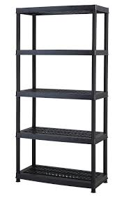 Edsal Economical Storage Cabinets by Keter Plastic 5 Tier Shelf 18