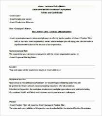 employment contract letter templatezet