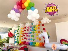 Rainbow Party Decorations Balloons 40th Party Ideas Numbers Party Decorations 40th Party