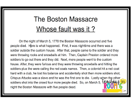 truth and bias in the boston massacre teaching in room 6