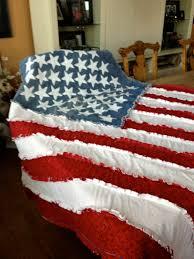 American Flag Bedding American Flag Blanket American Flag Ragged Blanket