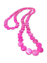 necklace pearl pink images Oyster bay collection hot pink double strand mother of pearl jpg