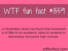 an australian study on homework facts
