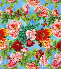 printed fabric textile printing floral print