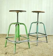 Industrial Bar Stool With Back Bar Stool Retro Metal Bar Stools With Back Vintage Metal Bar