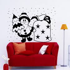 funny christmas wall decals cute santa claus with gifts bags sweet funny christmas wall decals cute santa claus with gifts bags sweet children bedroom holiday decor sticker new year decor w 15 in wall stickers from home