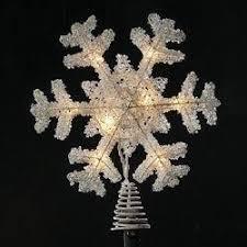 12 u2033 ice palace lighted white snowflake christmas tree topper
